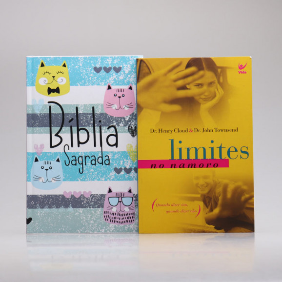 Kit Bíblia ACF Cats + Limites do Namoro | Aprendendo a se Relacionar
