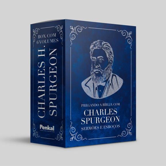 Box com 6 Volumes | Pregando a Bíblia com Charles Spurgeon Sermões e Esboços