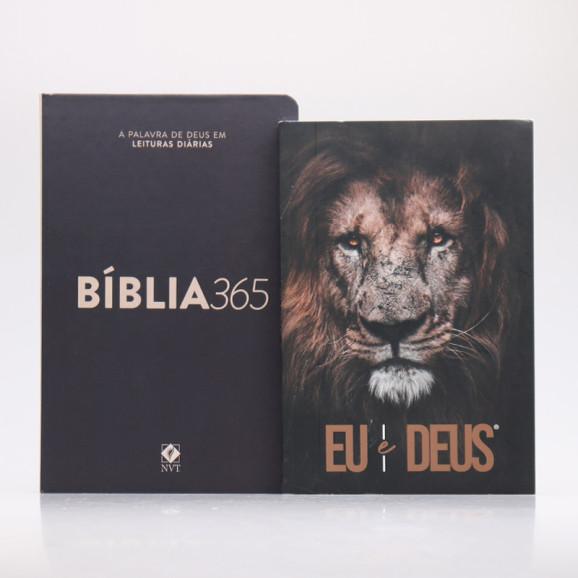 Kit Bíblia 365 NVT Clássica + Eu e Deus Eu Sou   Momento Diário