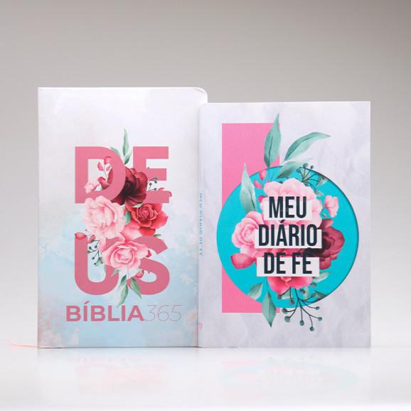 Kit Meu Diário de Fé   Bíblia 365 + Colagem