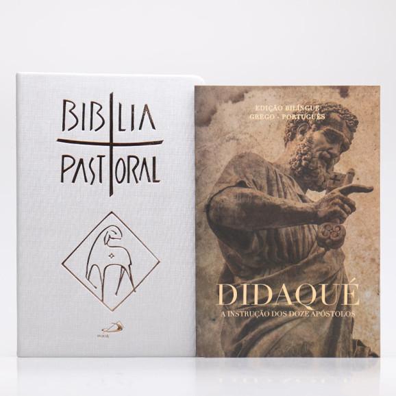 Kit Bíblia Pastoral Colorida Letra Normal Luxo + Didaqué   Vivenciando a Fé