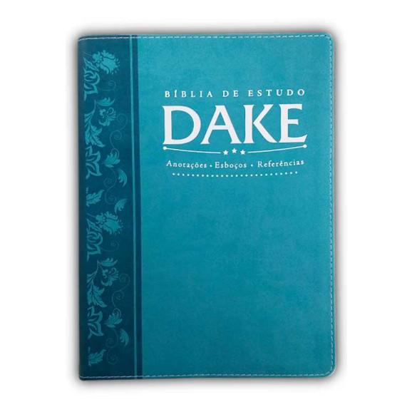 Bíblia De Estudo DAKE | RC | Letra Normal | Capa Sintética | Turquesa