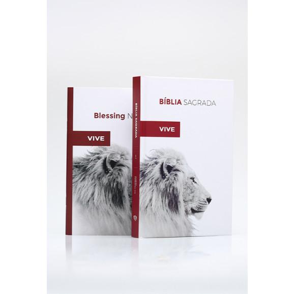 Bíblia Sagrada | ACF | Letra Média | Capa Dura | Ele Vive + Blessing Notes | Ele Vive