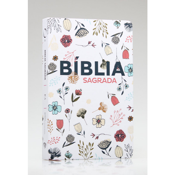 Bíblia Sagrada   RA   Letra Grande   Soft Touch   Flowers Branca