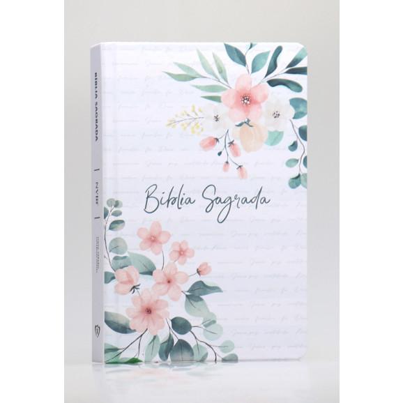 Bíblia Sagrada | NVI | Letra Normal | Capa Dura/Soft Touch | Floral