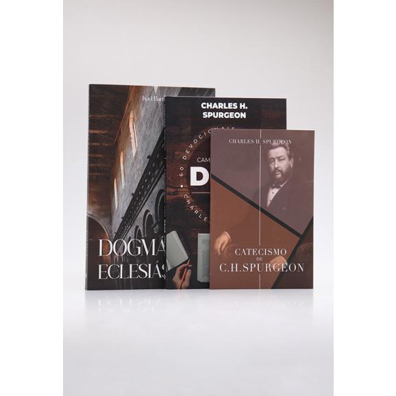 Kit Catecismo de C. H. Spurgeon + Devocional Spurgeon + Dogmática Eclesiástica   Homens de Honra