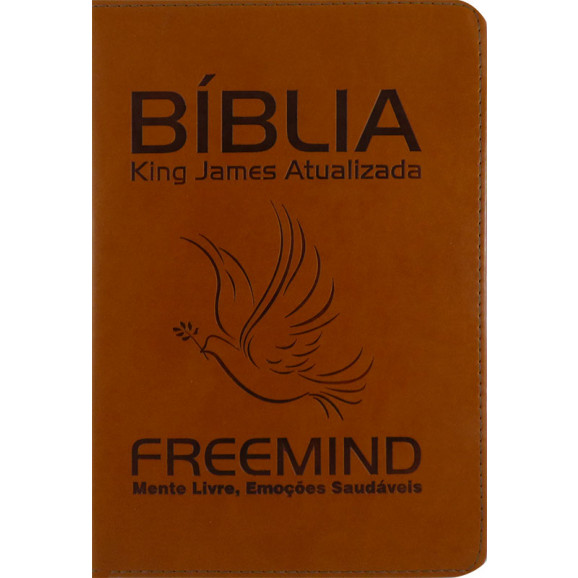 Bíblia | King James Atualizada | Letra Média | Luxo | Freemind | Caramelo