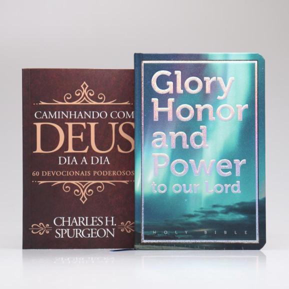 Kit Bíblia Sagrada NVI Com Panorama Bíblico e Mapas + Devocional Spurgeon   Clássica