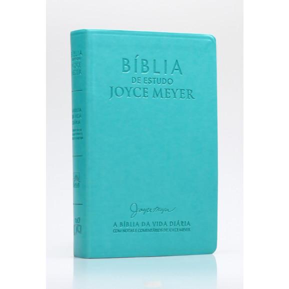 Bíblia de Estudo Joyce Meyer   NVI   Letra Média   Luxo  Azul