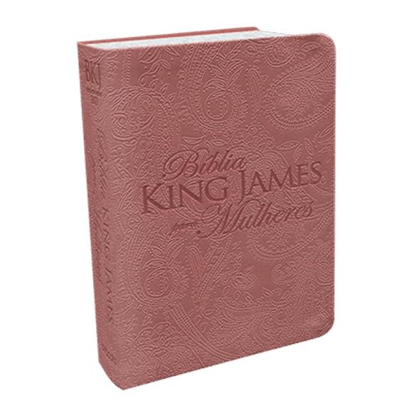 Bíblia Sagrada | King James Para Mulheres | Letra Normal | Luxo | Rosê Gold
