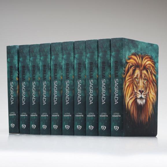 Kit 10 Bíblias | RC | Soft Touch | Leão Aslam