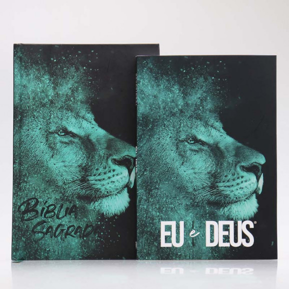 Kit Bíblia ACF + Devocional | Leão Azul
