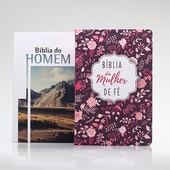 Kit 2 Bíblias   Casal de Fé   Edição 2
