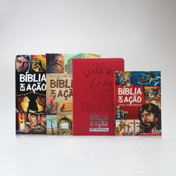 Coleção 2 Bíblias Em Ação + Manual + Novo Testamento | Edição 2