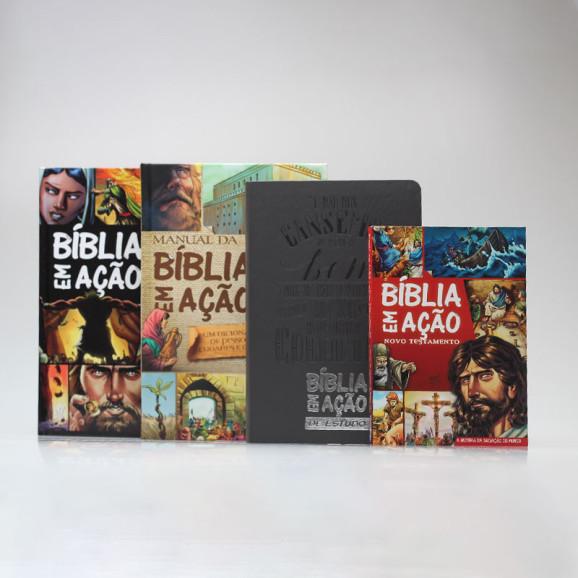 Coleção 2 Bíblias Em Ação + Manual + Novo Testamento | Edição 1