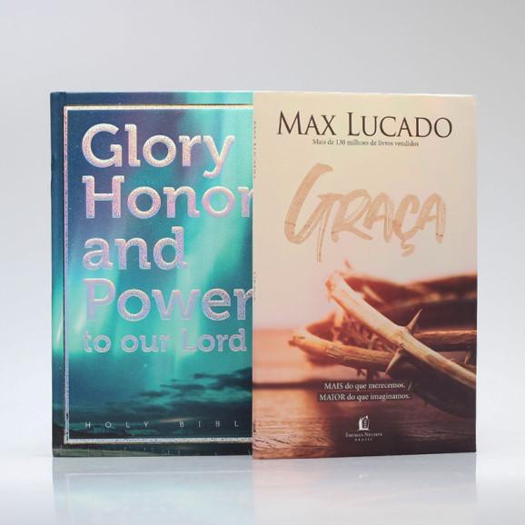 Kit Maravilhosa Graça   Bíblia Glory Honor And Power + Graça