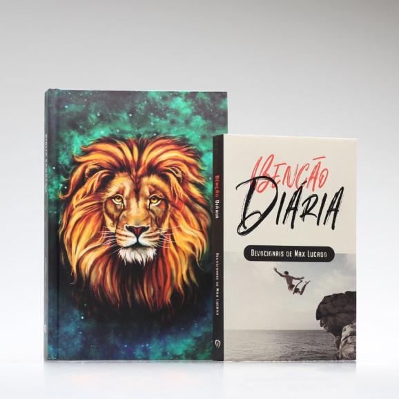 Kit Tempo com Deus | Bíblia ACF Leão Aslam + Devocional Benção Diária