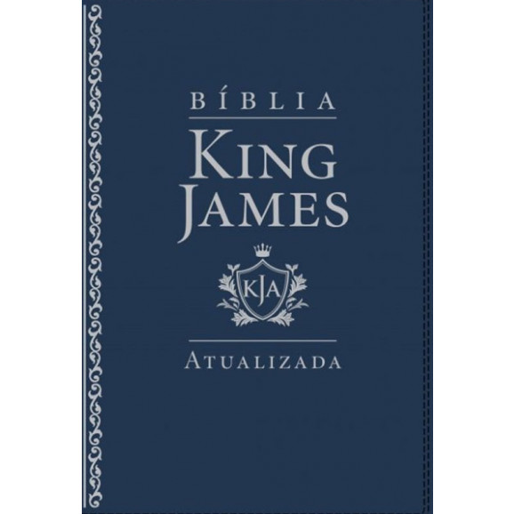 Bíblia King James Atualizada | Letra Grande | Luxo | Azul