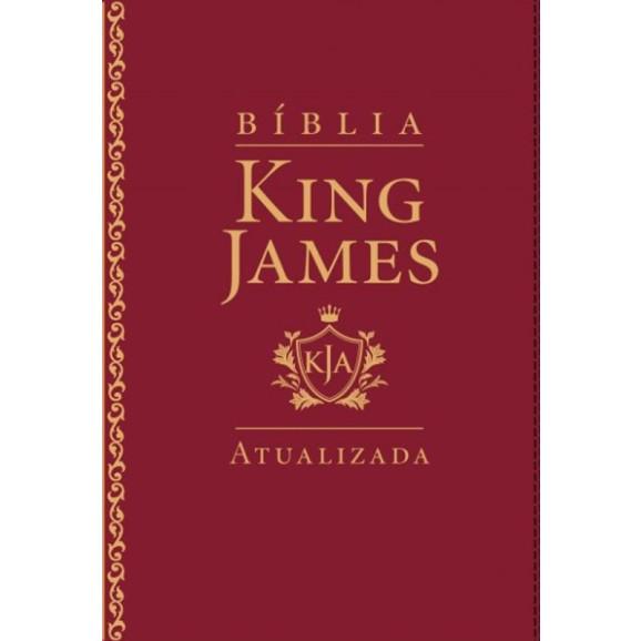 Bíblia King James Atualizada | Letra Grande | Luxo | Vinho