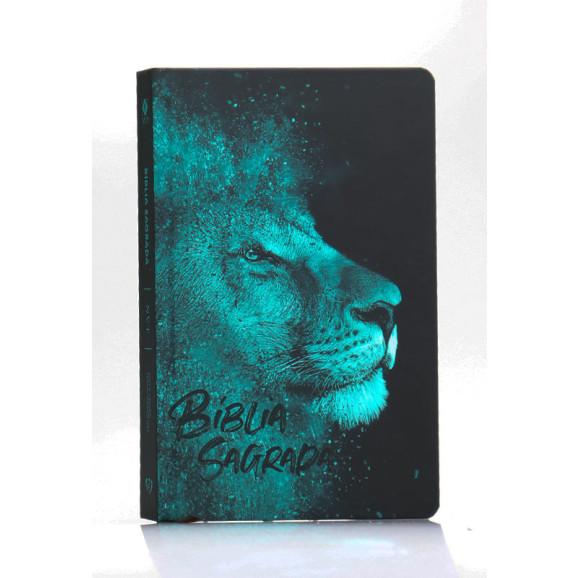 Bíblia Sagrada   NVT   Letra Normal   Capa Dura/Soft Touch   Leão Azul