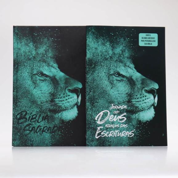 Kit Bíblia + Guia Bíblico | Jornada com Deus Através das Escrituras | Leão Azul