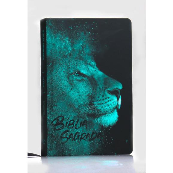 Bíblia Sagrada | NVI | Letra Normal | Capa Dura/Soft Touch | Leão Azul
