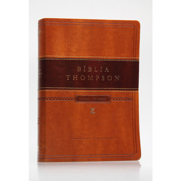 Bíblia de Estudo Thompson   AEC   Letra Grande   Luxo   Marrom   Índice