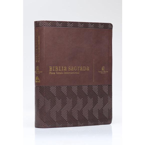 Bíblia Sagrada | NVI | Letra Normal | Couro Soft | Marrom