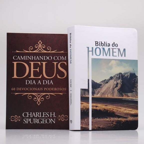 Kit Bíblia do Homem + Devocional Spurgeon Clássica | Homem Sábio