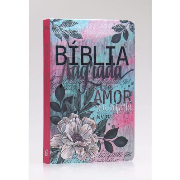 Bíblia Sagrada   NVI   Letra Grande   Capa Dura   Flor Artística   Especial