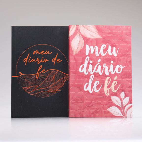 Kit 2 Livros Meu Diário de Fé | Casal de Oração | Pétalas