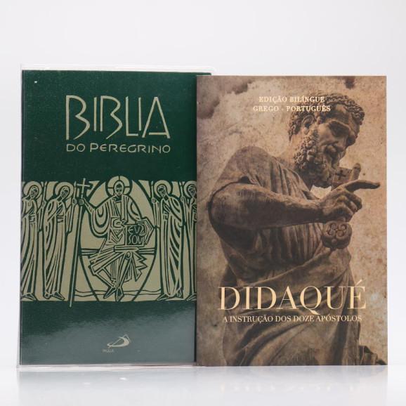 Kit Bíblia do Peregrino Letra Normal Verde + Didaqué   Vivenciando a Fé