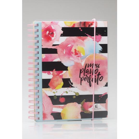 Meu Plano Perfeito | Acetato | Flores com Listras | Planner Permanente