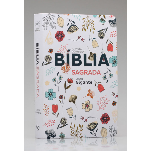 Bíblia Sagrada | RC | Letra Gigante | Soft Touch | Flowers Branca