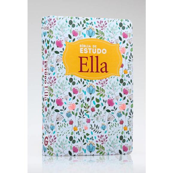 Bíblia Ella de Estudo | NVI | Letra Normal | Semi-Luxo | Floral