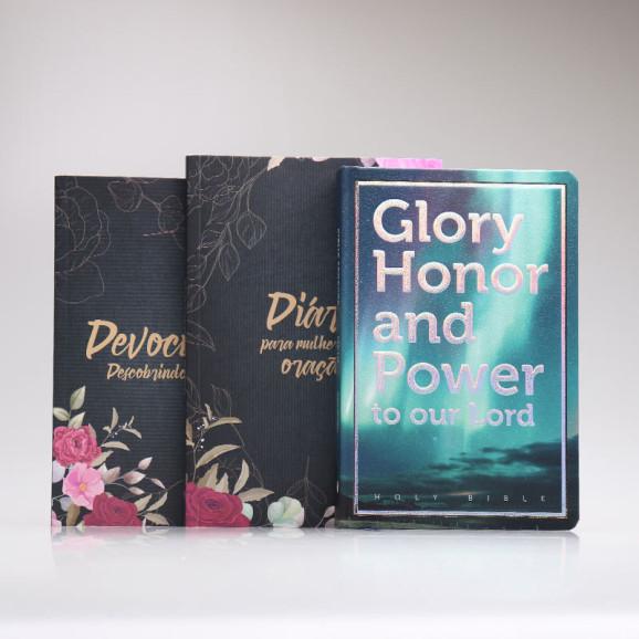 Kit Mulheres de Oração   Floral + Bíblia Mapas