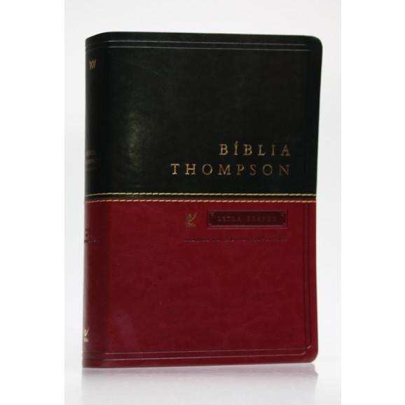 Bíblia de Estudo Thompson | AEC | Letra Grande | Luxo | Verde e Vinho