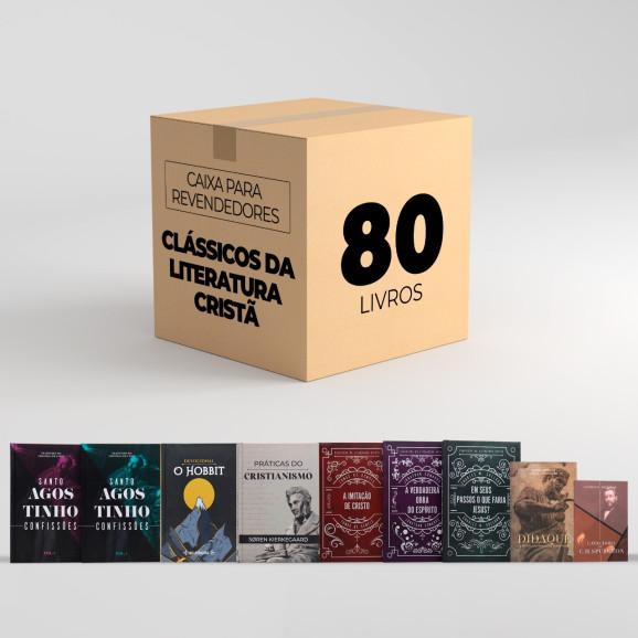 Caixa Para Revendedores   Com 80 Clássicos da Literatura Cristã