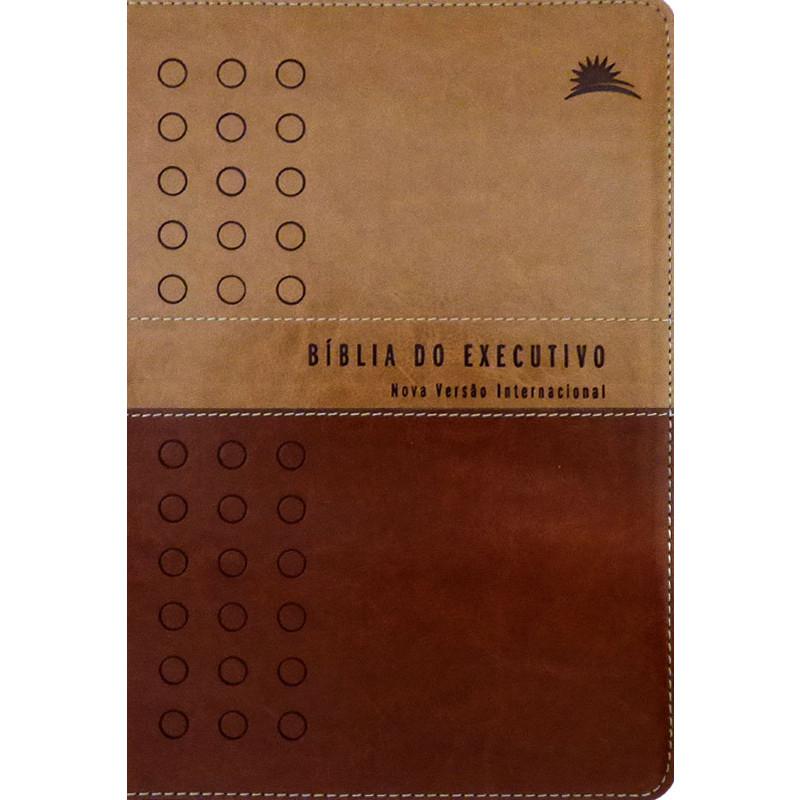 70bebd61afd Bíblia do Executivo - Nova Versão Internacional - Luxo - Marrom Claro e Café