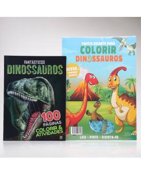 Kit Tapete Gigante + Fantásticos Dinossauros | Colorir & Atividades