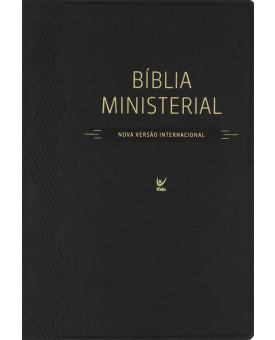 Bíblia de Estudo Ministerial | NVI | Luxo | Preta