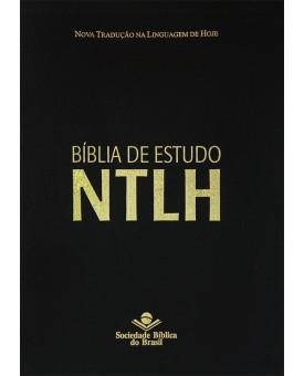 Bíblia de Estudo | NTLH | Letra Grande | Couro Bonded | Preta
