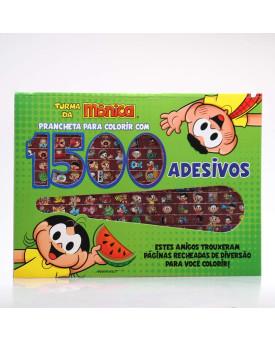Turma da Mônica   Prancheta Para Colorir com 1500 Adesivos   Magali e Cascão