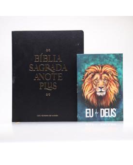 Kit Bíblia Anote Plus RC Preta + Devocional Eu e Deus Leão Aslam | Pai Para Todos