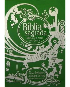 Bíblia Edição Com Notas Para Jovens - NTLH - Zíper - Verde