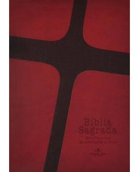 Bíblia | NTLH | Emborrachada | média | Luxo | Vermelha/Marrom