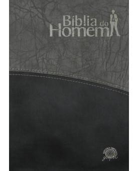 Bíblia do Homem   NVI   Média   Letra Normal   Preta e Cinza