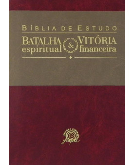 Bíblia de Estudo Batalha Espiritual   Vitória Financeira   NVI   Creme/Vermelho