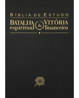 Bíblia de Estudo Batalha Espiritual e Vitória Financeira   NVI   Média   Preta