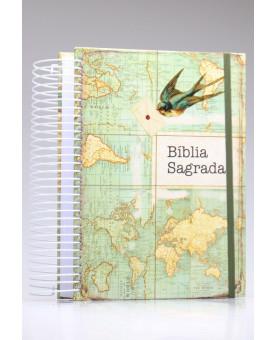 Bíblia Sagrada Jornada Anote | NAA | Letra Normal | Capa Dura | Espiral | Send